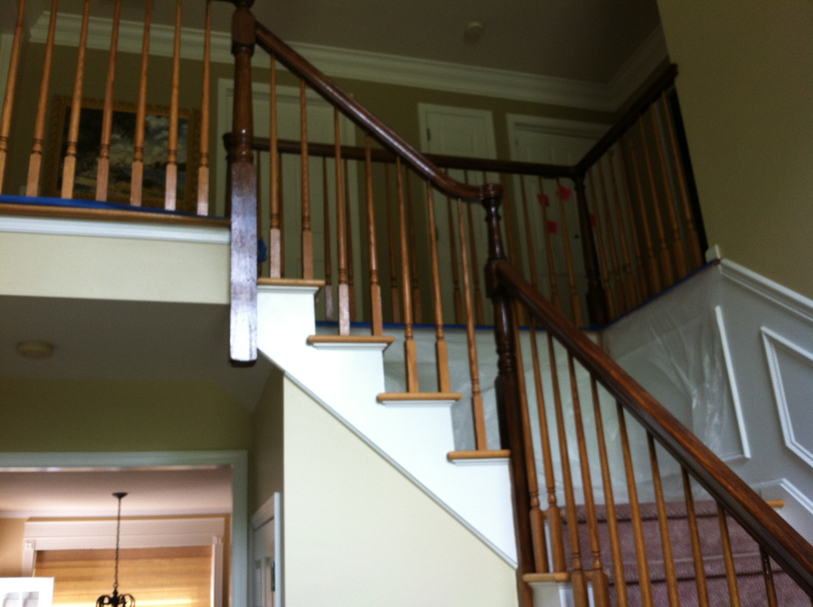 Replacing Pine Stair Treads With Red Oak Treads. We Are A Licensed And  Insured Flooring Contractor Specializing In Hardwood Flooring And Stairs.